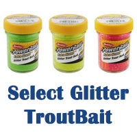 Select glitter troutbait